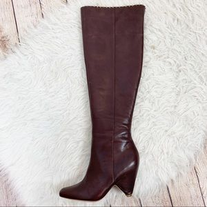 *BROWN* NWB REPORT SIGNATURE Leather OverKnee Boot